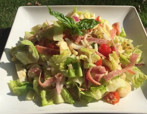 Chopped Salad with Italian Dressing