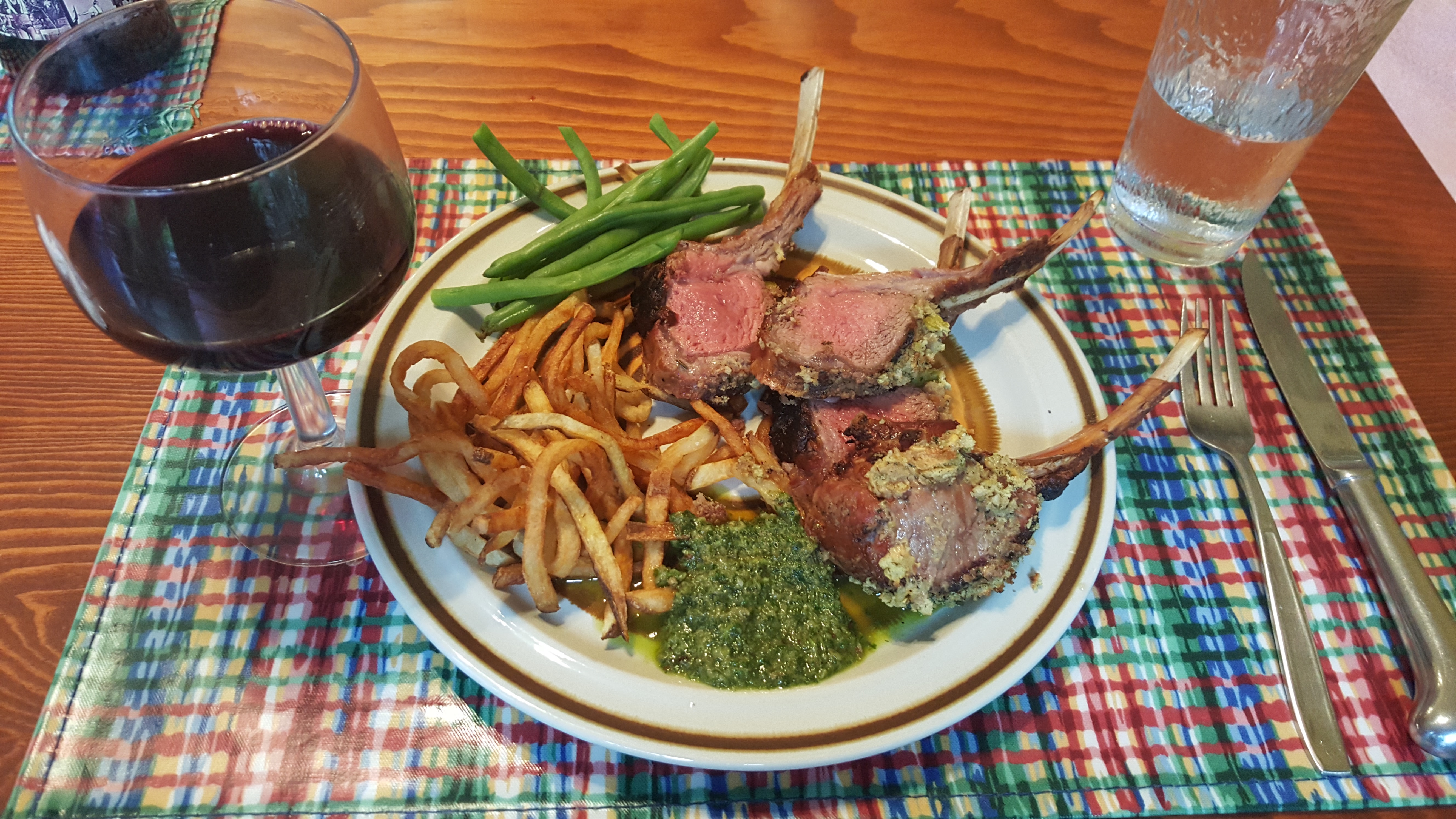 Rack of Lamb Provencal with Salsa Verde