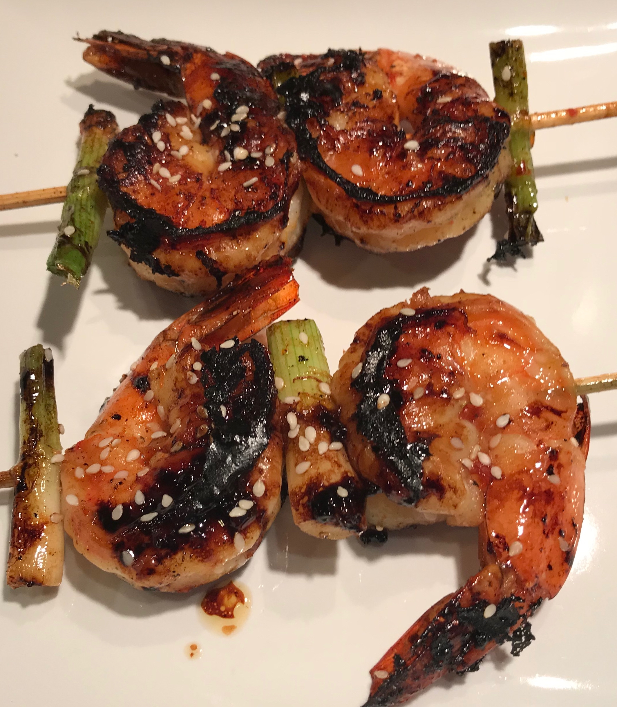 Shrimp And Green Onion Skewers